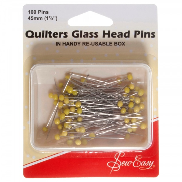 Quilter Glass Head Pins