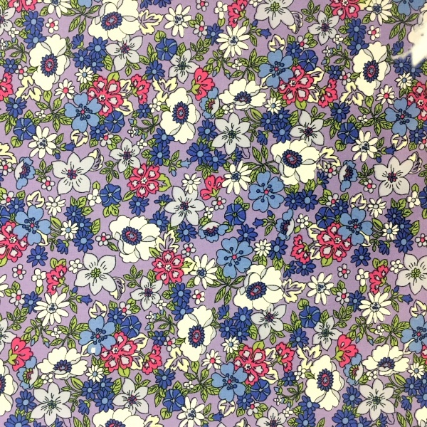 Floral Poplin Design 5 Purple