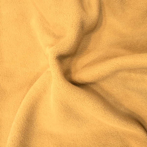 Plain Fleece Fabric  GOLD