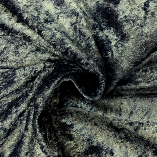 Crushed Velvet - Dark Grey