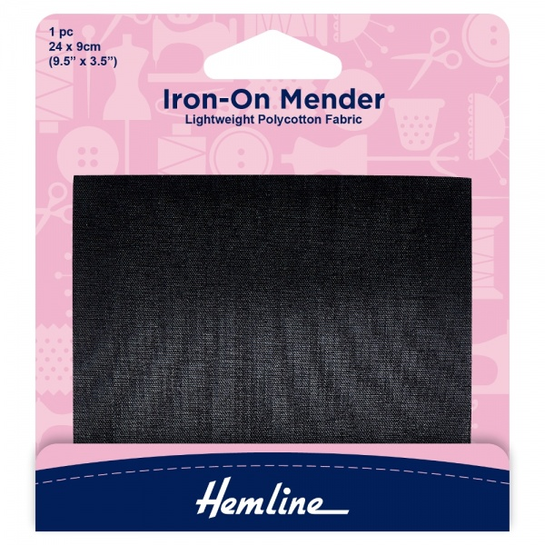 Black Iron-On Mender