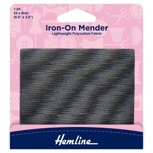 Dark Grey Iron-On Mender