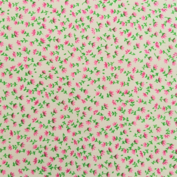POLYCOTTON Small Pink Buds