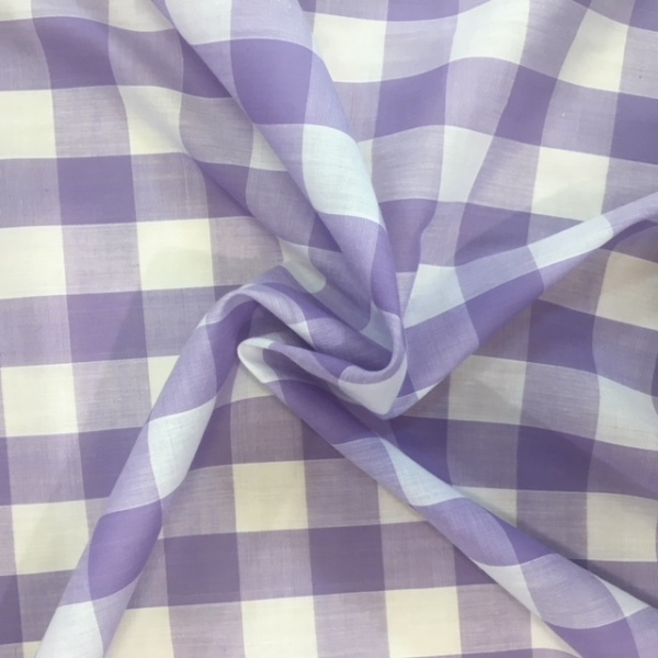 1'' Polycotton Gingham LILAC