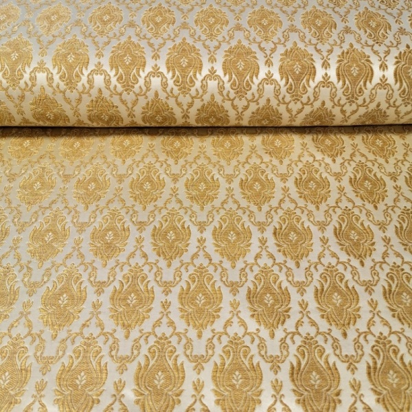 Regal Brocade GOLD on LIGHT GOLD