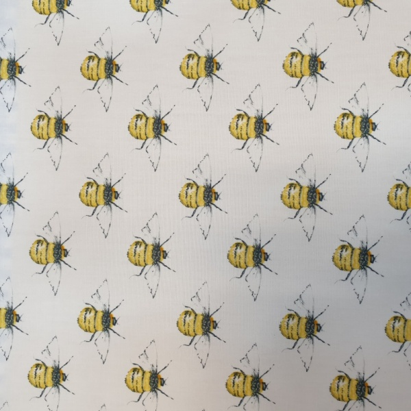 100% Cotton BEES on IVORY