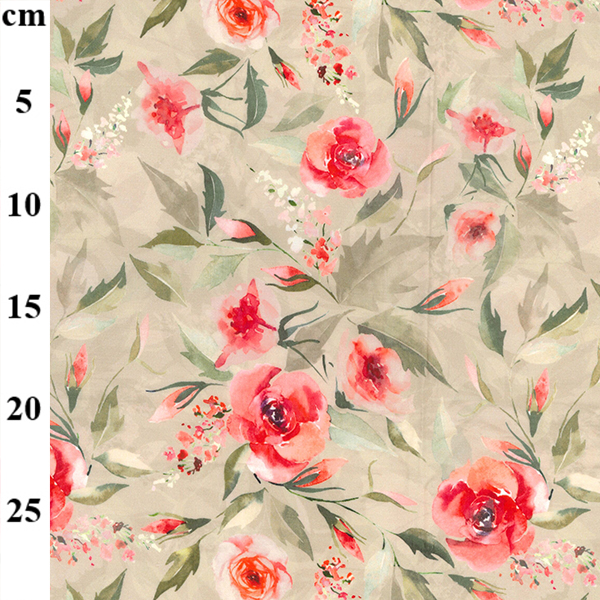 100% Cotton Lawn Design 3 CORAL FLORAL