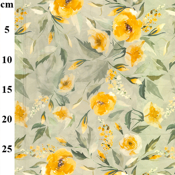 100% Cotton Lawn Design 3 YELLOW FLORAL
