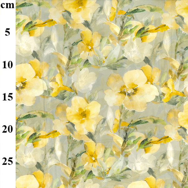 100% Cotton Lawn Design 7 YELLOW  FLORAL