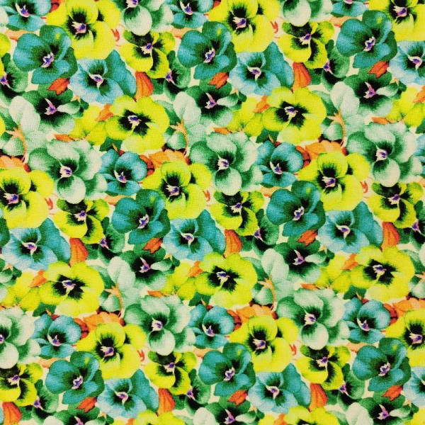 100% Floral Craft Cotton GREEN od
