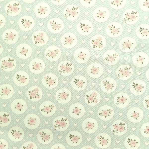 100% Floral Craft Cotton GREEN