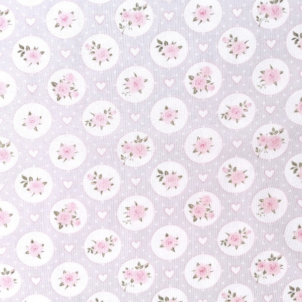 100% Floral Craft Cotton LILAC