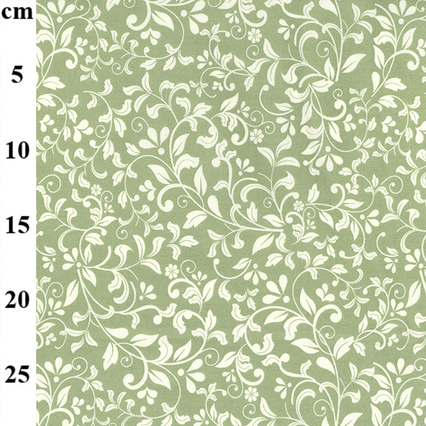 100% Floral Cotton GREEN