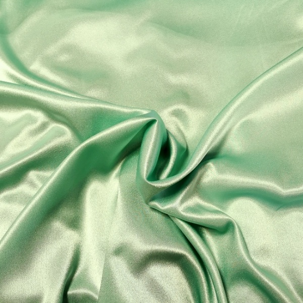 Crepe Backed Satin Mint Green
