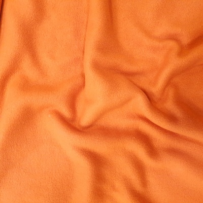 Plain Fleece Fabric  ORANGE