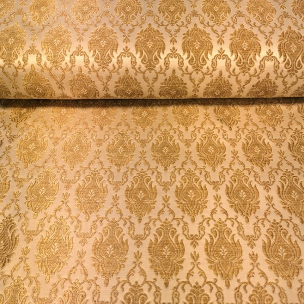 Regal Brocade GOLD on PEACH