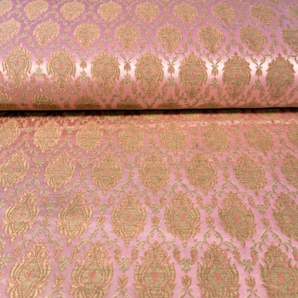 Regal Brocade GOLD on DUSKY PINK