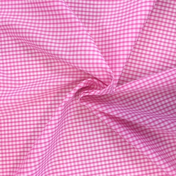 1/8'' Polycotton Gingham BABY PINK