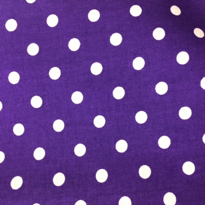 8mm Cotton Poplin Polkadot Purple