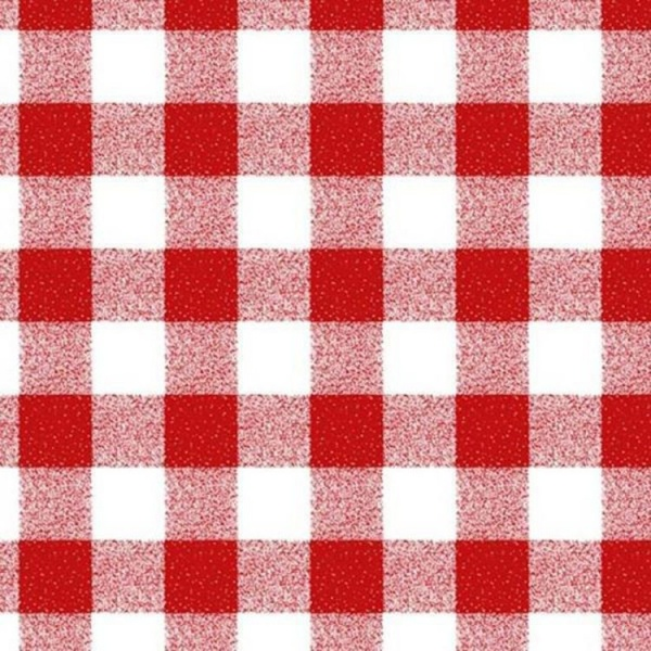 Gingham PVC Red