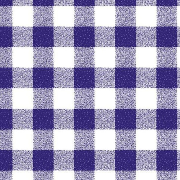 Gingham PVC ROYAL BLUE