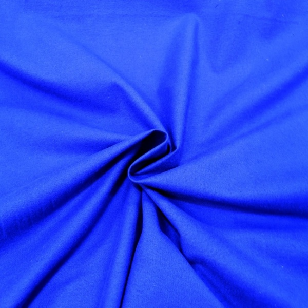Winceyette Flannelette Cotton Royal Blue