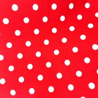 8mm Cotton Poplin Polkadot Red