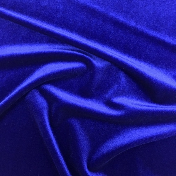 Stretch Velvet - ROYAL BLUE