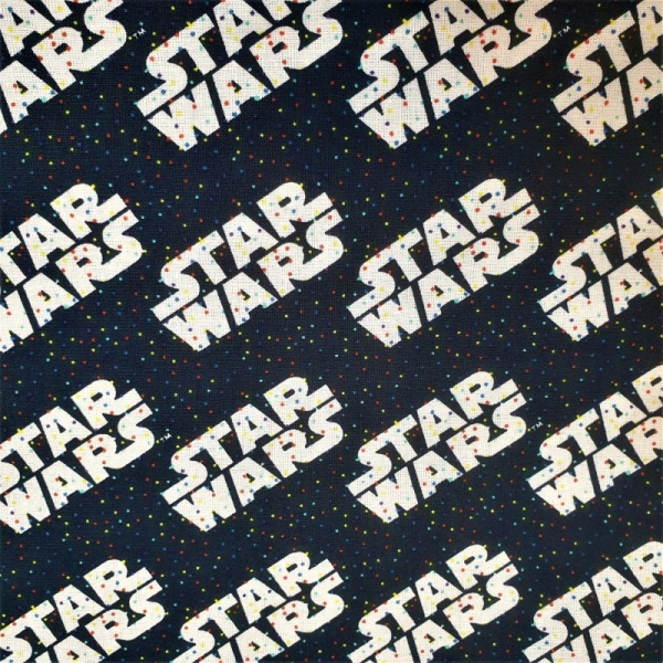 100% Cotton - Star Wars Logo and Tiny Dots