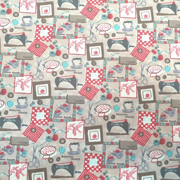 The Sewing Room 100% Cotton Design 1 BEIGE