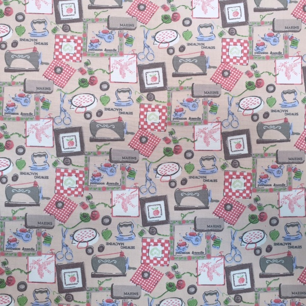 The Sewing Room 100% Cotton Design 3 PEACH