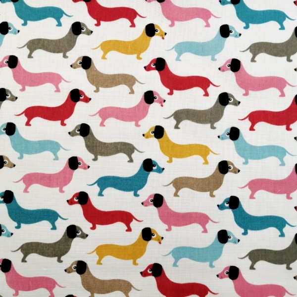 Sausage Dog Polycotton