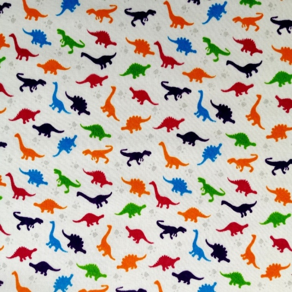 Multi Dinosaur Polycotton