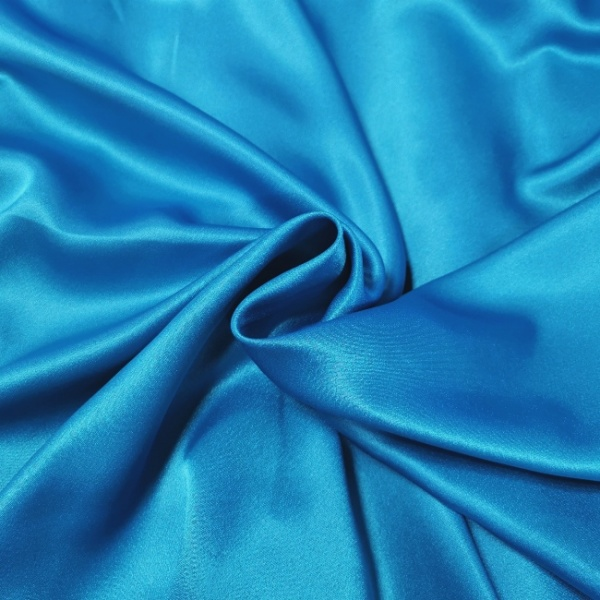 Crepe Backed Satin Turquoise