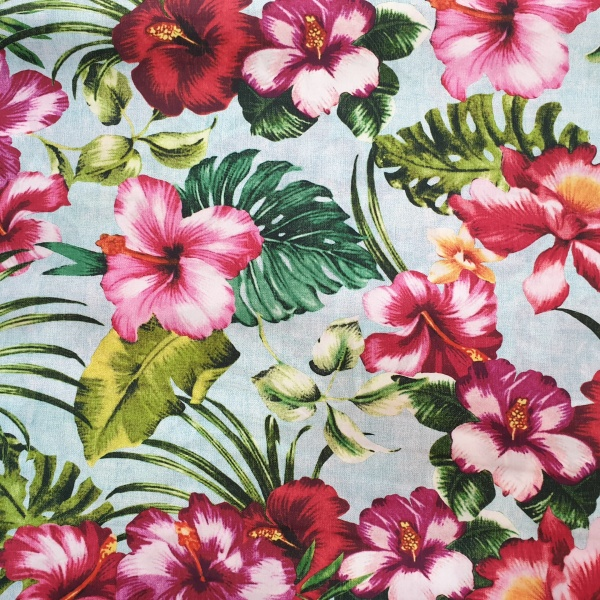 McElroy Cotton Lawn Digital Print Tropical Paradise