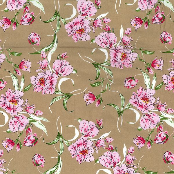 100% DIGITAL VISCOSE DESIGN 2 BEIGE