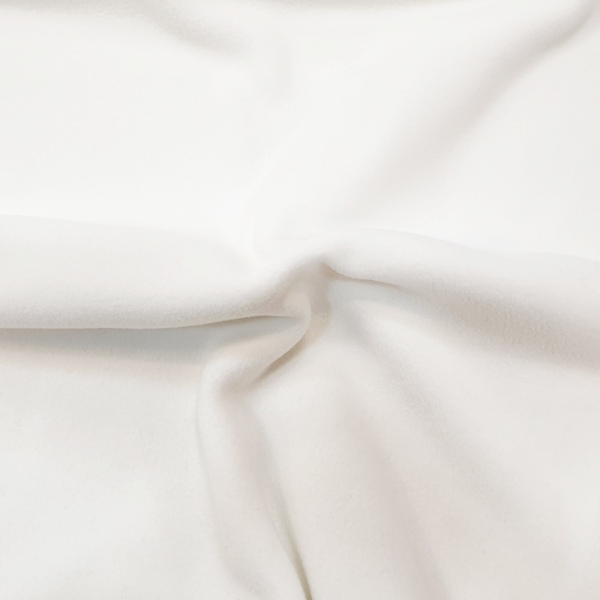 Plain Fleece Fabric  WHITE