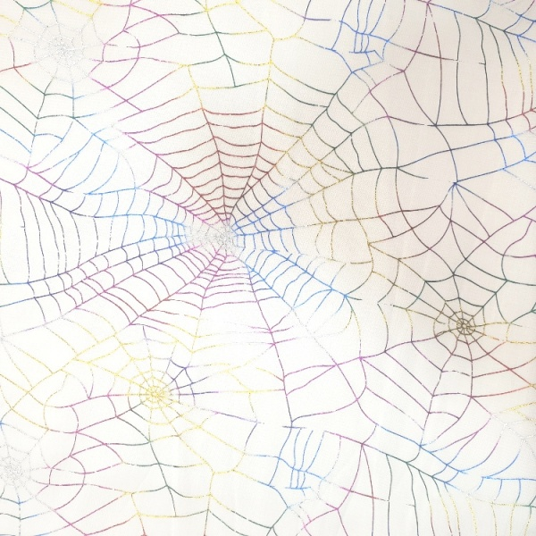 Halloween - Multicolour Spiderweb Net