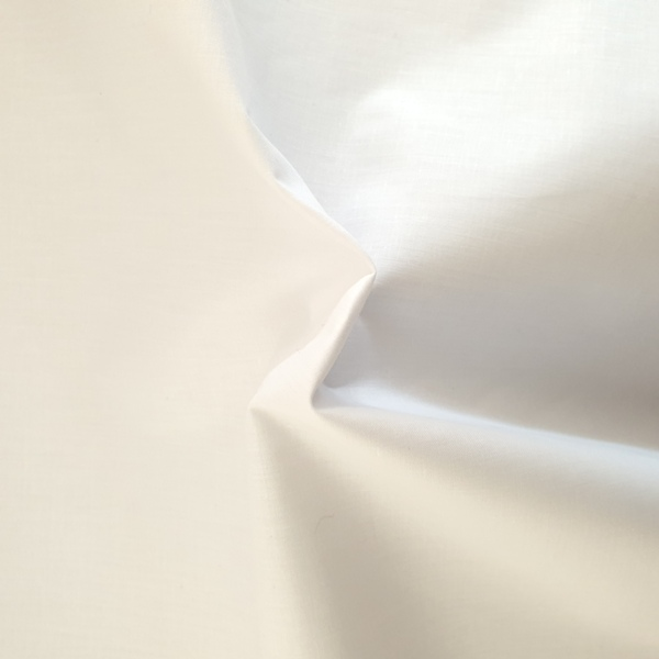 (2.8 Metre wide) Polycotton Percale WHITE
