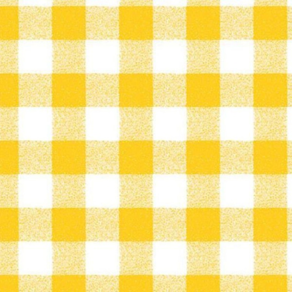 Gingham PVC Yellow