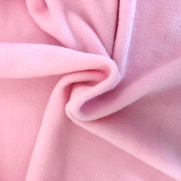 Plain Fleece Fabric  BABY PINK