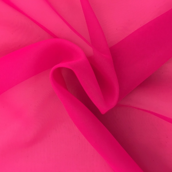 Plain Voile FLAME RETARDANT Bright Pink