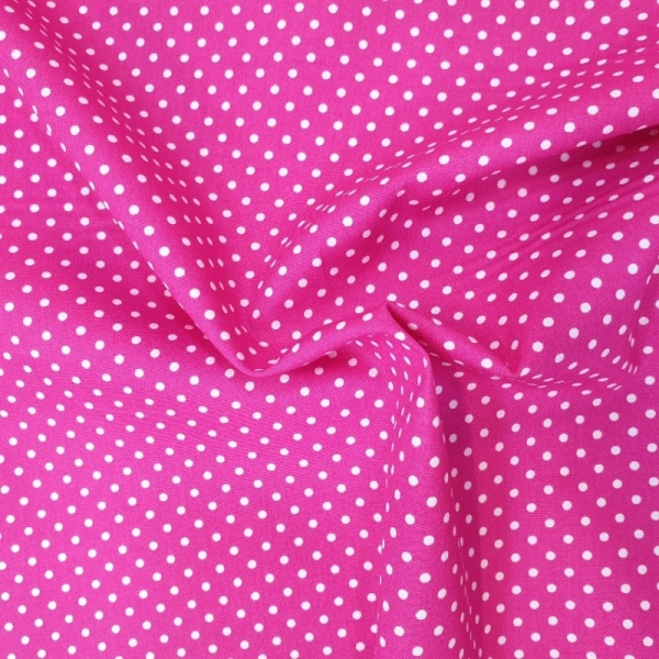 3mm Spot Cotton Bright Pink
