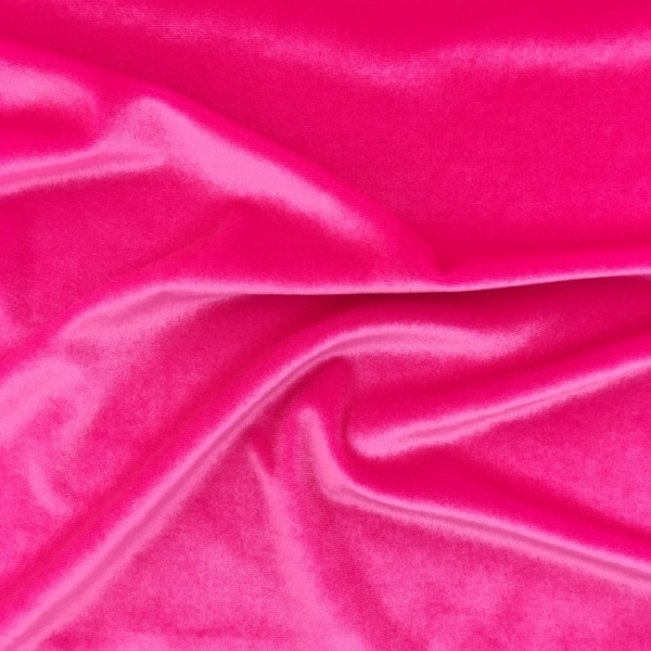 Stretch Velvet - FLUORESCENT PINK