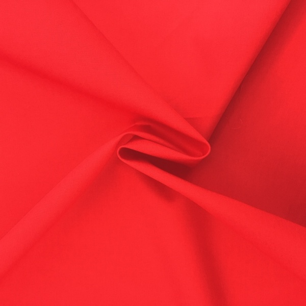 100% Cotton Poplin - BRIGHT RED
