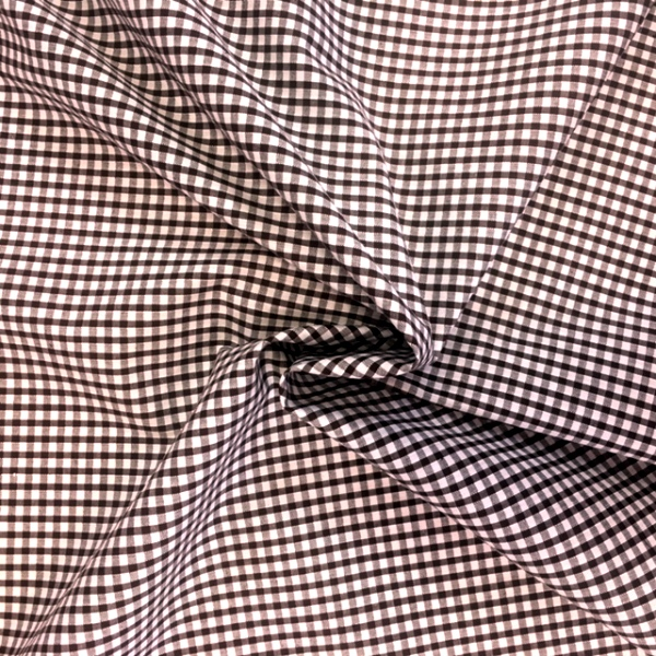 1/8'' Polycotton Gingham BROWN