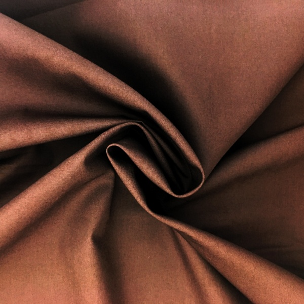 100% Cotton Poplin - BROWN