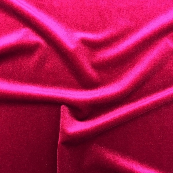 Stretch Velvet - CERISE