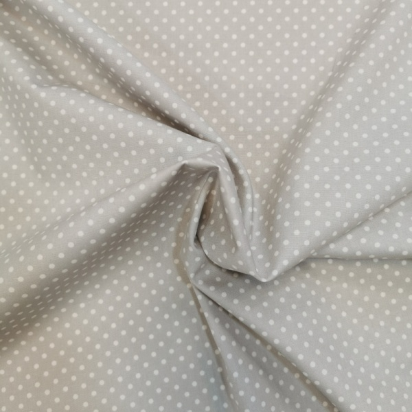 3mm Spot Cotton Silver