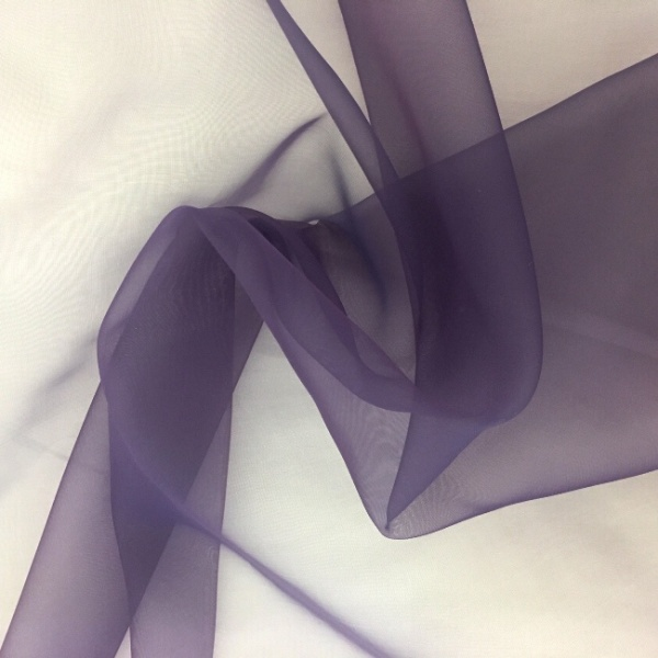 Plain Dyed Organza Dark Purple